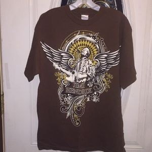 Jimi Hendrix With Wings and Guitar Size Large Tee